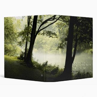 Misty Forest Notebook Binder Ephesians 5:8