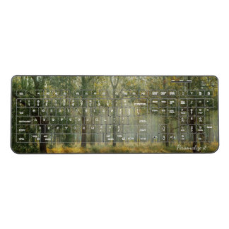 Misty Forest Scene Wireless Keyboard