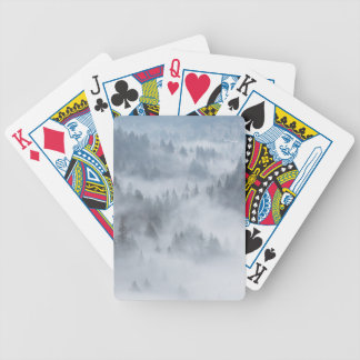Misty Forest Valley Bicycle Playing Cards
