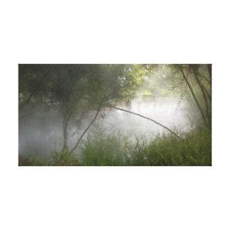 Misty Geothermal Pool Rotorua, New Zealand Canvas Print
