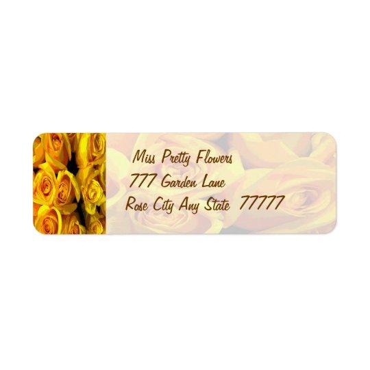 Misty Golden Yellow Roses