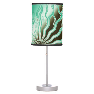 Misty Green Brown Rays Lamp