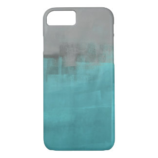 'Misty' Grey and Turquoise Phone Case