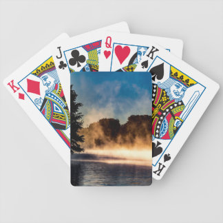 Misty Lake Bicycle Playing Cards