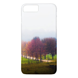 Misty meadow in autumn iPhone 7 plus case
