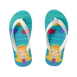 Misty Mermaid Kid's Flip Flops