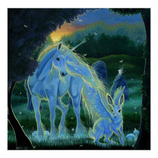 """Misty Midsummers Morning"" Unicorn Canvas Print"