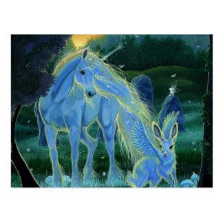 """Misty Midsummers Morning"" Unicorn Postcard"