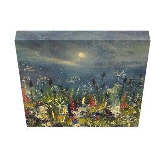 Misty moon - moonlit meadow wildflower print