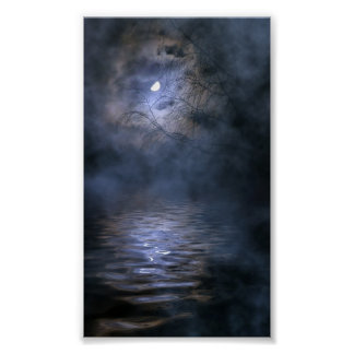 Misty moon poster