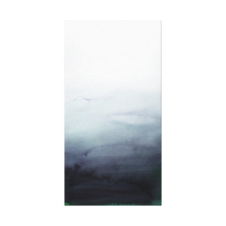 Misty Morning Abstract Landscape Canvas Print