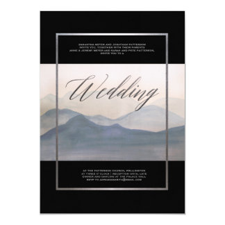 Misty Morning Abstract Landscape Winter Wedding Card