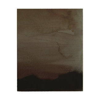 Misty Morning Abstract Wall Art Wood Print