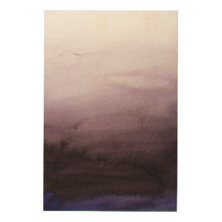 Misty Morning Abstract Wall Art Wood Prints