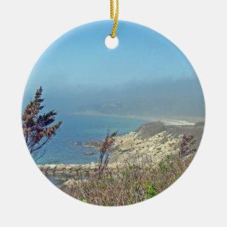Misty Morning at Nobska Point - Cape Cod MA Ceramic Ornament