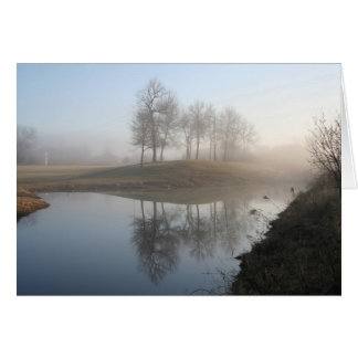 misty morning card