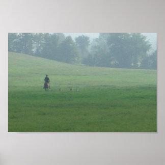 misty morning hunt poster