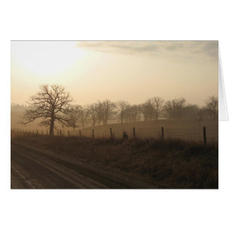 Misty morning in March Card