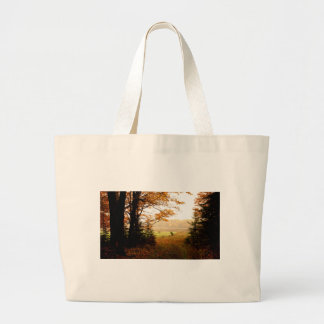 Misty Morning in the Country Large Tote Bag