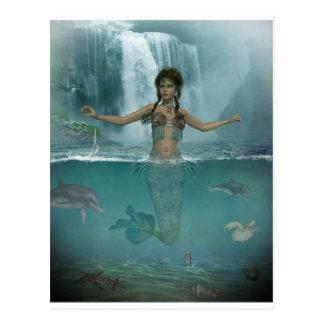 Misty Morning Mermaid Postcard