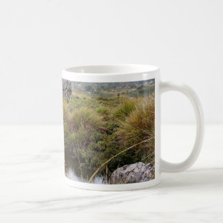 Misty morning reflections, Tasmania, Australia Coffee Mug