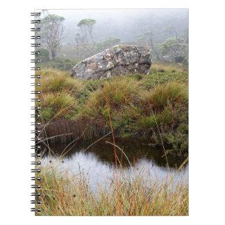 Misty morning reflections, Tasmania, Australia Notebooks