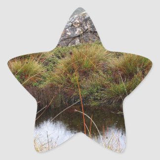 Misty morning reflections, Tasmania, Australia Star Sticker