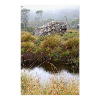 Misty morning reflections, Tasmania, Australia Stationery