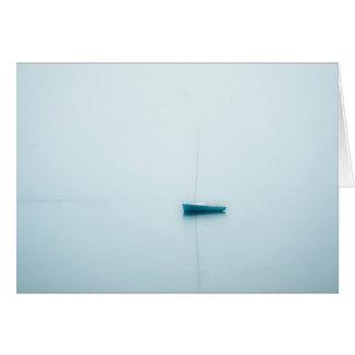 Misty morning sailboat, Cape Cod Card