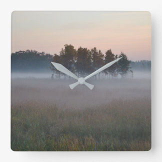 Misty Morning Square Wall Clock