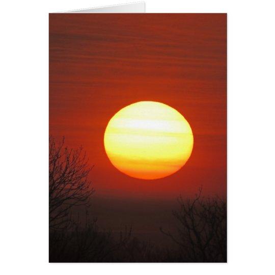 Misty Morning Sunrise. Card