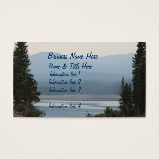 Misty Mountain Lake Scenic Business Card