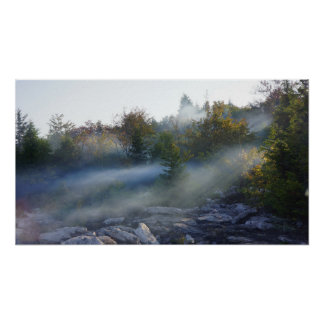 Misty Mountain Morning Poster