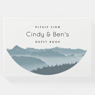 Misty Mountain Peaks Wedding Guest Book