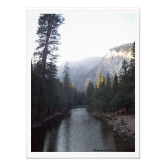 """Misty Mountain River"" Yosemite Valley Photo Print"