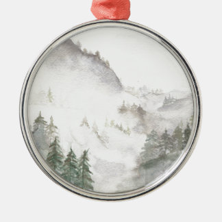 Misty Mountains Metal Ornament
