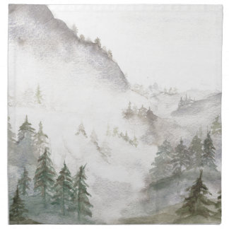 Misty Mountains Napkin
