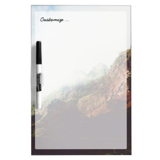 Misty Mountains, Relaxing Nature Landscape Scene Dry Erase Board
