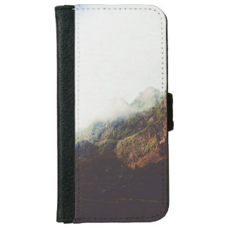 Misty Mountains, Relaxing Nature Landscape Scene iPhone 6 Wallet Case