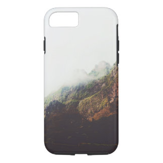 Misty Mountains, Relaxing Nature Landscape Scene iPhone 7 Case