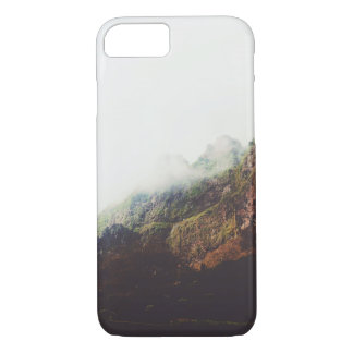 Misty Mountains, Relaxing Nature Landscape Scene iPhone 8/7 Case