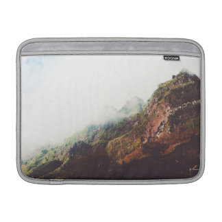 Misty Mountains, Relaxing Nature Landscape Scene MacBook Sleeve