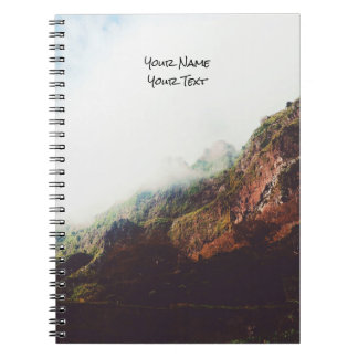 Misty Mountains, Relaxing Nature Landscape Scene Notebooks