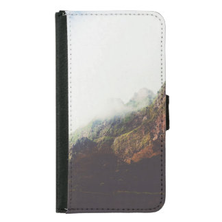 Misty Mountains, Relaxing Nature Landscape Scene Samsung Galaxy S5 Wallet Case