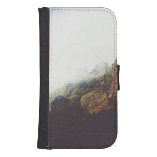 Misty Mountains, Relaxing Nature Landscape Scene Samsung S4 Wallet Case