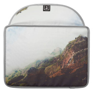 Misty Mountains, Relaxing Nature Landscape Scene Sleeve For MacBooks