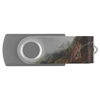 Misty Mountains, Relaxing Nature Landscape Scene USB Flash Drive