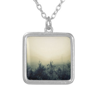 Misty mountains silver plated necklace