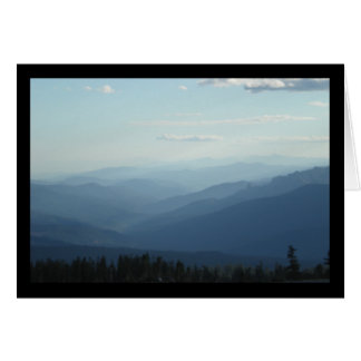 Misty Mountains- Song of Sol. 2:3 Greeting Card