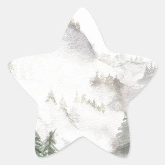 Misty Mountains Star Sticker